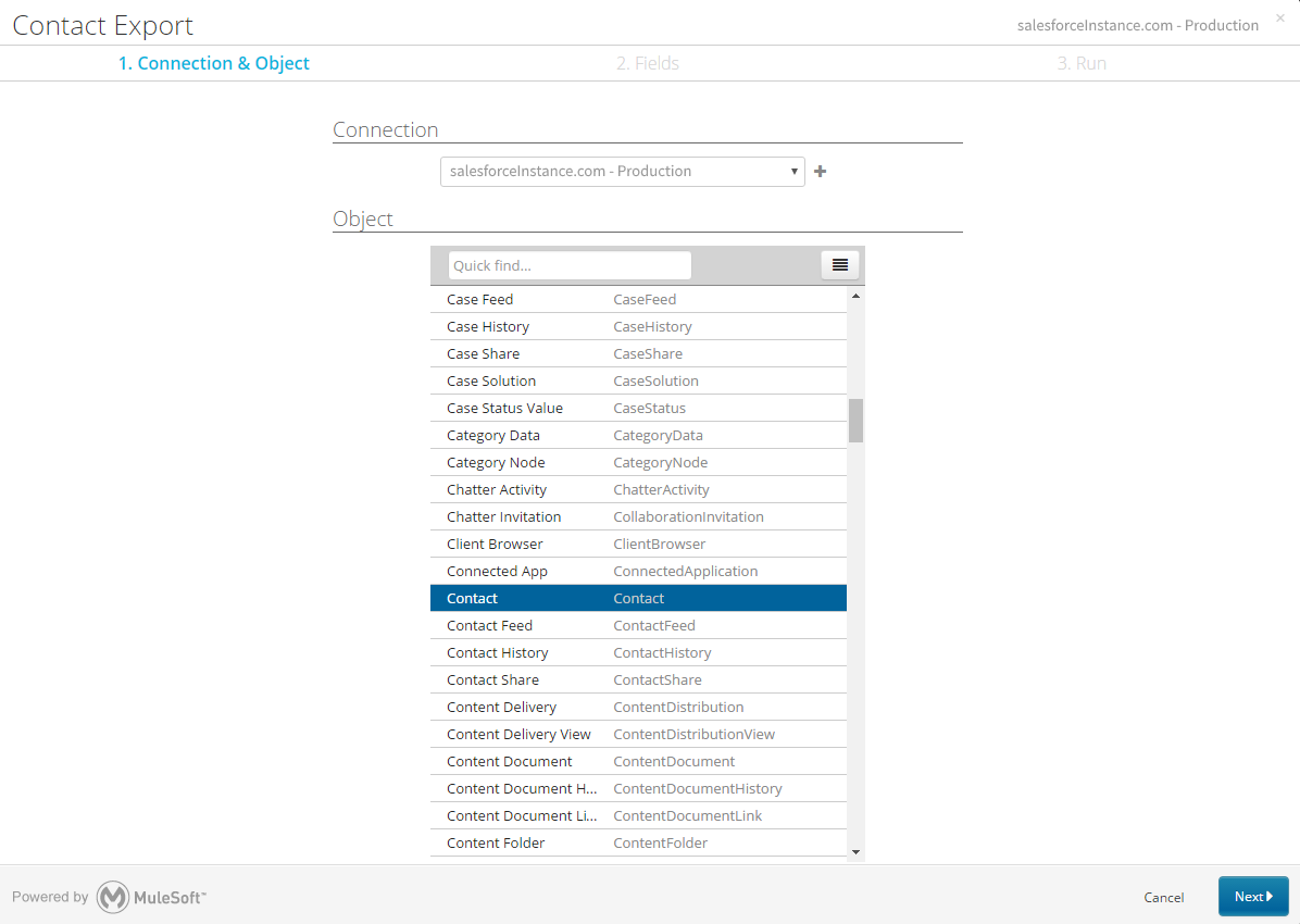 Export from Salesforce and import into Absorb using